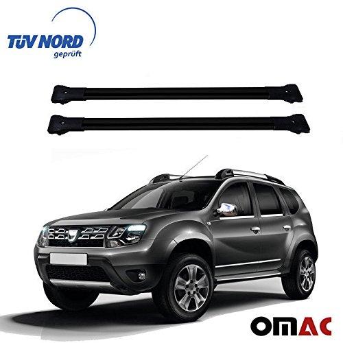 OMAC GmbH Dacia Duster Baca Negro Aluminio Elg 2tlg con TÜV ABE Facelift 2014–2017