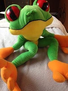 """Rainforest Cafe Large Plush Frog Cha Cha 18"""" Tree Frog"""