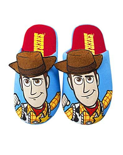 Disney Pixar Toy Story Woody Parcial de Boy 3D poliéster Zapatillas de casa