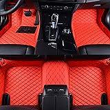 Super1Six Alfombrillas De Coche Cobertura Total Aptas para Maserati Granturismo 2015~2020 Alfombras De Pie De Cuero Personalizadas,Rojo