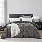HOMBYS Grey King Size Goose Down Alternative Quilted Comforter