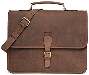 LEABAGS Clearwater genuine buffalo leather messenger bag in vintage style
