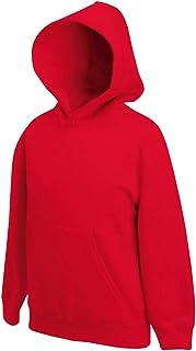 Fruit Of The Loom - Sudadera básica con capucha diseño Sweatshirt Unisex niños niñas