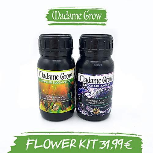 MADAME GROW ⭐️⭐️⭐️⭐️⭐️ Flower DUOPACK - 2 x 250 ml - Speichern Sie jetzt und erhalten Sie Dieses Kit DE Bloom und Mast für Marihuana bestialische Ergebnisse ohne Komplikationen