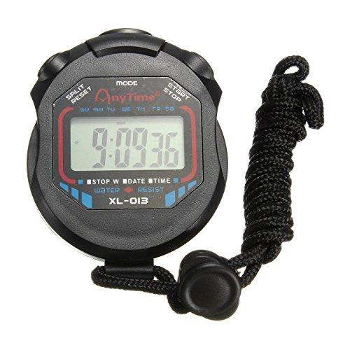 takestop CRONOMETRO Digitale Orologio Stopwatch Timer Resistente all'Acqua per Sport Jogging Corsa Nuoto
