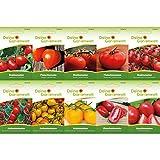 Tomaten-Set mit 10 Sorten Samen   Tomatensamen-Sortiment   Saatgut für Tomaten-Pflanzen