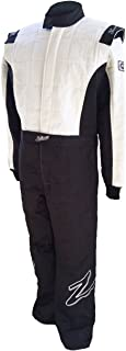 Zamp Men's Suit Multi Layer (Black and White, X-Large)