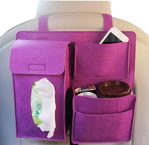 BLANCHO BEDDING Multi-Pocket Voyage Sac de Rangement Voiture Seat Organisateur Pourpre