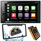 Pioneer AVH-1500NEX Double Din Apple Carplay In-Dash DVD/CD/Am/FM Car Stereo Receiver W/ 6.2' Touchscreen + License Plate Backup Camera Included + Phone Magnet Holder