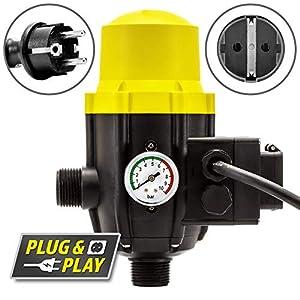 TROTEC Presostato electrónico TDP DSP para el Control de Bombas de jardín y Agua de 1 Fase Interruptor de presión…