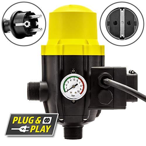 TROTEC Presostato electrónico TDP DSP Para el control de bombas de jardín y agua de 1 fase Interruptor de presión automático monitor de flujo