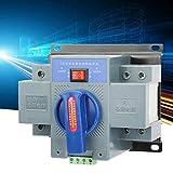 1Pc 63A 2P Interruptor de transferencia automática de doble potencia Mini interruptor de cambio Estable Motor único Riel DIN Sólido para sistema de suministro de energía doble Eléctrico
