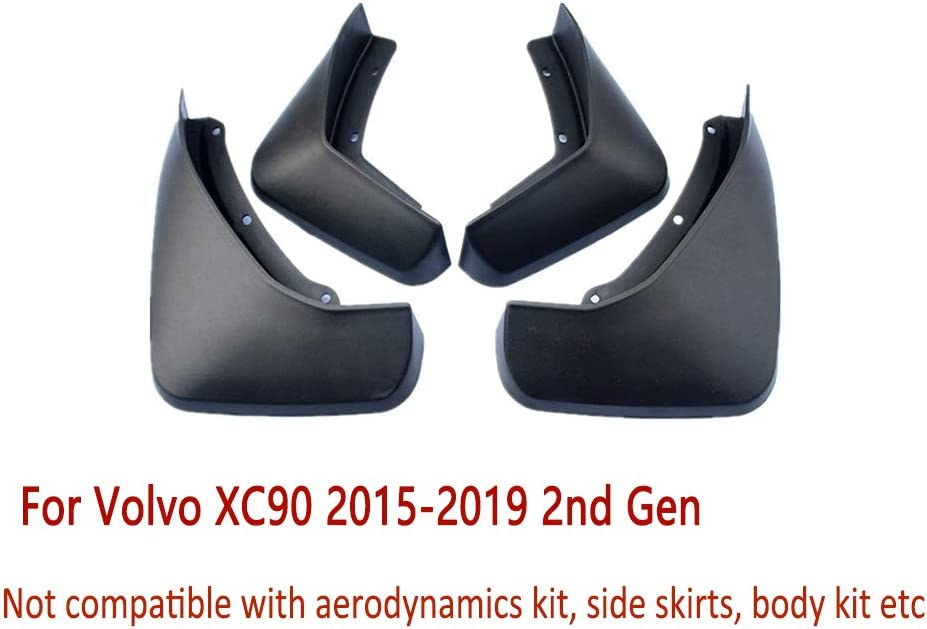 N2Qnice 4 PCS Front Rear Car Mudflaps XC90 Volvo for 2 2015-2019 Same Deluxe day shipping