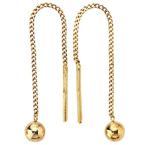 JOBO Durchzieh-Ohrhänger 333 Gelbgold Gold-Ohrringe