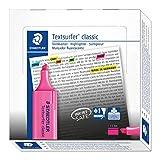 Staedtler Textsurfer 36423 - Rotulador fluorescente (compatible con tinta de impresora, punta de 4,7mm, línea de 2,5 mm, 10 unidades), color rosa
