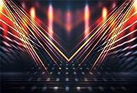 新しい7x5ftネオンパーティーの背景KTVパブナイトクラブの写真の背景のネオンライト70年代80年代90年代ミュージックショーキッズ大人演技ショーポートレート画像booth小道具デジタル壁紙