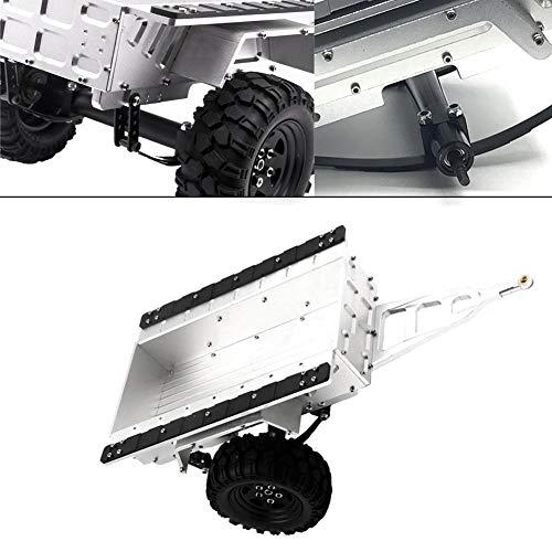 RC Trailer, 1/10 Metal Trail Auto Anhänger DIY Modified Trailer fit für Axial SCX10 90047 Traxxas TRX4 Tamiya CC01 D90 D110 TF2 RC Auto( Silber )