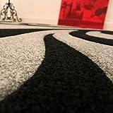 Paco Home Designer Teppich mit Konturenschnitt Modern Grau Schwarz, Grösse:80×150 cm - 5