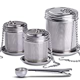 House Again Tea Ball Infuser & Cooking Infuser, (2+1 Pack) Extra Fine Mesh Tea Infuser Set Threaded...