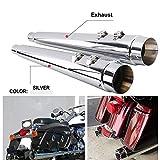 Silenziatore di scarico cromato da 10,2 cm, lunghezza 73,7 cm, per Harley Touring/Harley Touring/modelli Bagger/Dresser/Road King/Electra Glide/Street Glide/Road Glide/Road Glide/Ultra Limited 95-16