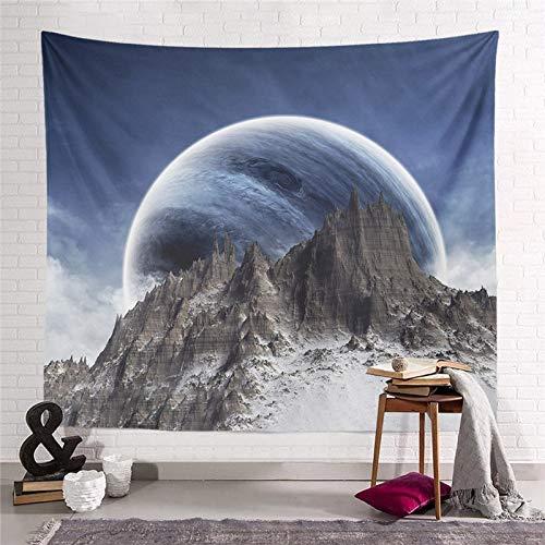 WERT Starry Moon Dream Tapiz Colgante de Pared Decoración para el hogar Sala de Estar Dormitorio Dormitorio Arte Fondo de Tela Toalla de Playa Manta de Picnic A3 95x73cm