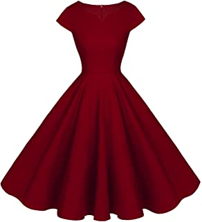 FAIRY COUPLE Vintage Rockabilly Cap Sleeves Prom Dress