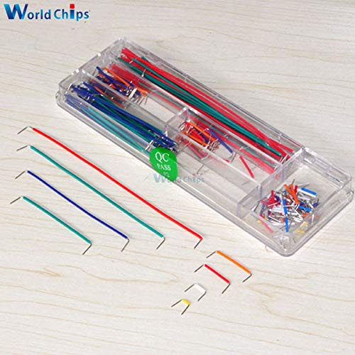 Ponis-Limos - 140Pcs/Lot U Shape Shield Solderless Breadboard Jumper Cable Wires Kit for Arduino Best Quality
