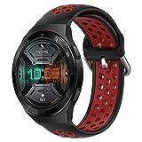 Keweni Cinturino di ricambio per Huawei Watch GT 2, cinturino sportivo in silicone con fibbia per smartwatch Huawei GT 2e/Huawei Watch GT/GT 2, 46 mm