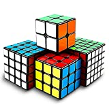 Point Games Speed Cube Set 4 Pack - Brainteaser Toy for Beginner, Novice, and Pro - Easy Turning 3D Puzzle Cube Game - Development Stimulating Toys - Brain Teaser Puzzles Bundle Set