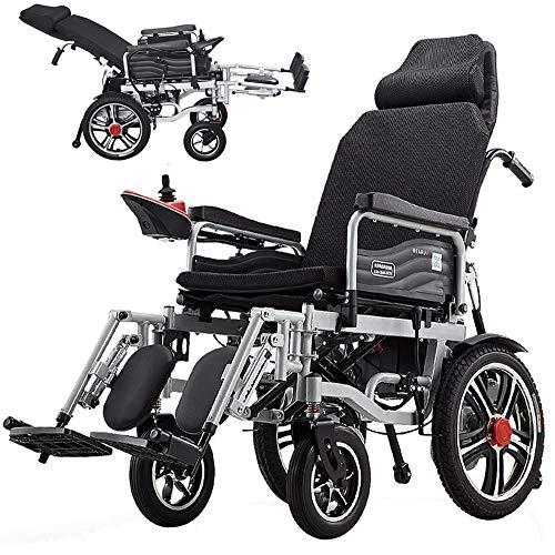 DREAMyun Elektro-Rollstuhl Klapprollstuhl Elektrisch Leicht Zusammenklappbar Vollautomatischer Elektrischer Rollstuhl Faltbar - Elektrorollstuhl 500W/24V Li-ion-akku, ältere Und Behinderte Menschen