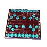 perfeclan Ajedrez Chino portátil Xiangqi Desarrollo Intelectual Resina Pensamiento Juegos de Mesa educativos Compacto magnético para Juegos Juguete Adultos Niño