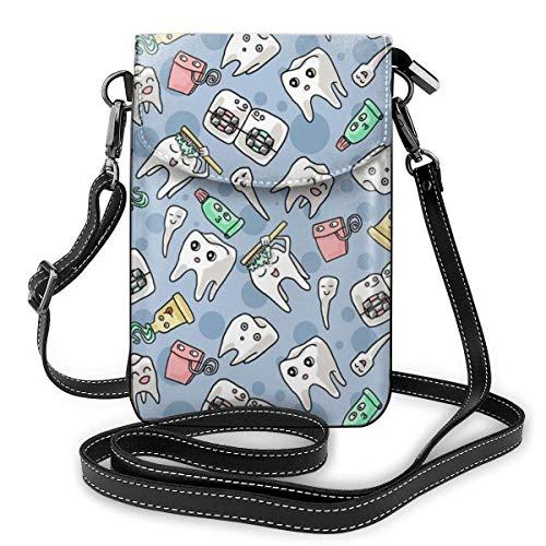 Damen-Geldbörse aus weichem PU-Leder mit niedlicher Zahnpasta-Zahnpasta-Handtasche für Reisen, Einkaufen, Arbeiten