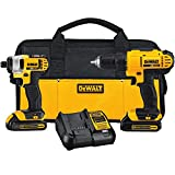 Best Brushless Drills - DEWALT 20V MAX Cordless Drill Combo Kit, 2-Tool Review