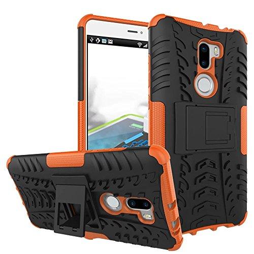 Sunrive per Xiaomi MI5S Plus 5,7 Pollici, Custodia Doppio Strato con Supporto Standing Prova di Scossa Resistenza alle Cadute Robusta Cover Custodia con Kickstand(Arancione)