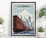 Retro-Reise-Poster, Colorado, Vintage-Stil, rustikaler