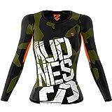 SMMASH OCR Mudness Sportiva Magliette Donna Manica Lunga, Yoga, Crossfit, Camicia Funzionale Top da...