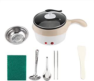 Pot électrique - Mini cuvette/cuvette de haute qualité étudiant, Casserole de nouilles électriques au wok Skillet, kaki, 220V