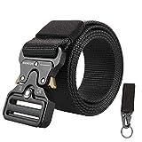 KingMoore Men's Tactical Belt Heavy Duty Webbing Belt Adjustable Military Style Nylon Belts with...