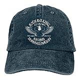 The Eagle Russia Khabib Nurmagomedov Kickboxing Academy Summer Essentials Fashion Washed Plain Baseball Cap,Adjustable Hats for Unisex-Adult Navy