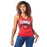 Zumba Soft Graphic Print Dance Fitness Tanks Workout Racerback Tops for Women