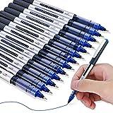 Scrittura Precisa: Le penne roller con inchiostro da 13 pezzi progettate con punte a sfera durevoli (0.5 mm) e con un regolatore di uscita dell'inchiostro di precisione integrato, offrono un'esperienza di scrittura a flusso libero costante. Guscio Vi...