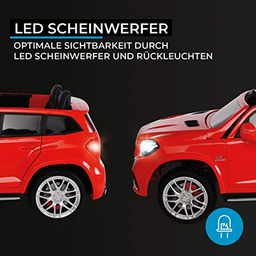 RC Auto kaufen Kinderauto Bild 6: Actionbikes Motors Kinder Elektroauto Mercedes GLS63 - Lizenziert - 4 x 45 Watt Motor - Ledersitz - Eva Vollgummireifen (Rot)*