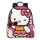 Hello Cartoon Kitty Anime Moda Lindo Boy Girl Mochila escolar