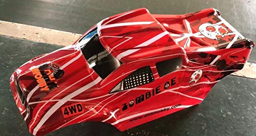 Vehicles-OCS DHK RC CAR Parts 8384-008 New Version Zombie 8e Red Color Printed Body (PVC Body)
