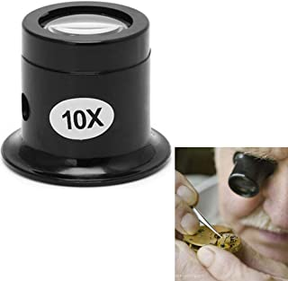 Honmofun Magnifying Glass Mirror Jewelers Magnifier Loupe Professional Watch Repair Magnifier Jewelry Diamonds Coins Miniatures Engravings Markings Magnifying Glass for Watch Jewellery Repair 10 Times