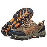 Y-PLAND Zapatos de Senderismo de Primavera, Zapatos de Malla Transpirables para Mujer, Zapatos Antideslizantes al Aire Libre, Zapatos de Senderismo para Mujer-marrón_EU43