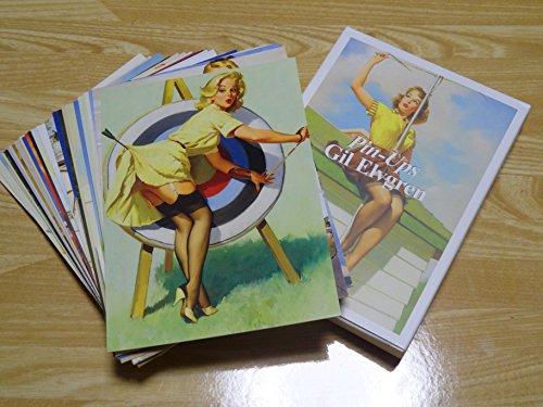 ビンテージ風 ピンナップガール 美女 アメリカンガール セクシーなポストカード 30枚組 ノーズアート風