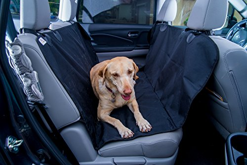 Smart Skippy Deluxe Pet Seat Cover for Cars, Trucks and SUV's - (Universal Size) Dog Car Seat Cover for Pets, Hammock Convertible, Dog Seat Cover Protects Car Seats, Non-Slip, WaterProof