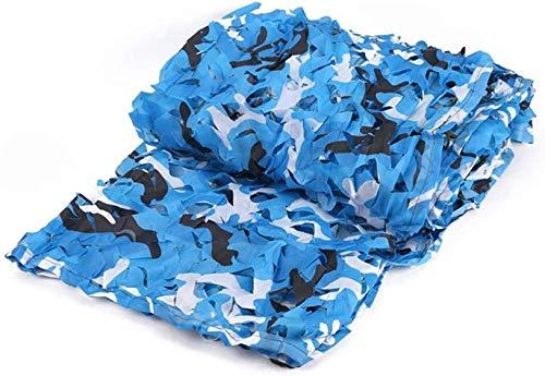 ZHEYANG Red de camuflaje de camuflaje a granel, malla, cubierta, persiana para caza, decoración, sombra, fiesta, camping, al aire libre (color: azul, tamaño: 2 x 3 m)