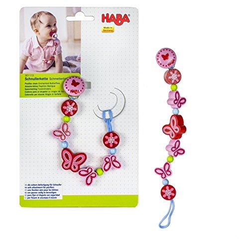 HABA 301113 - Schnullerkette Schmetterlingszauber
